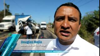 12 lesionados deja accidente en carretera Troncal del Norte