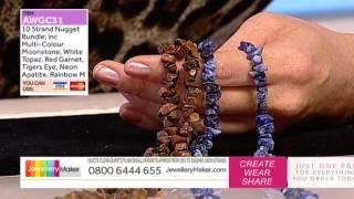 How To Make Gemstone Jewellery - JewelleryMaker LIVE (AM) 05/11/2014