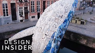 Whale Sculpture Made Out Of 5 Tons Of Plastic Ocean Waste