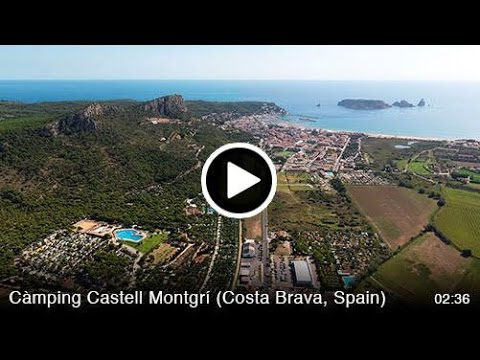 CAMPING CASTELL MONTGRI FROM THE AIR