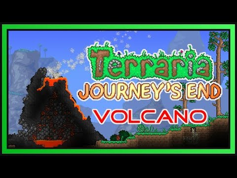 Terraria Journey's End Volcano | Timelapse Build (Ft. ChippyGaming)