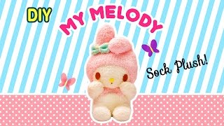 DIY My Melody Sock Plush | A Collaboration with Minty Mina D - YouTube