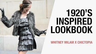 1920's Inspired Fashion Lookbook - Holiday Party Outfits | Whitney Milam x Chictopia