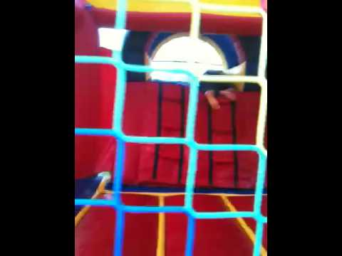 Moon bounce waterslide