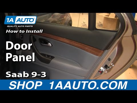 How to Install Replace Remove Rear Door Panel Saab 9-3 03-11 1AAuto.com