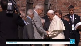 Pope visits Auschwitz, begs God to forgive so much cruelty