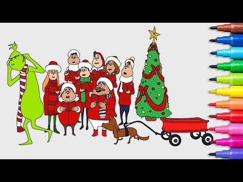 The Grinch - Coloring Pages  Coloring Books for Kids Rainbow TV