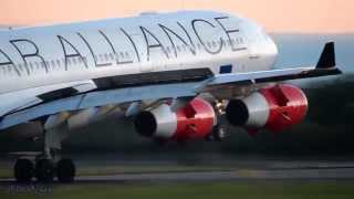 Close Up Airplane Landings!! Boeing 777-300/ER,  Airbus A340&A330 (Full HD1080p)