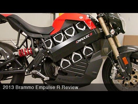 brammo - Motorcycle USA reviews Brammo's 2013 Empulse R electric sportbike with a claimed range of 100 miles and a top speed of 100 mph.