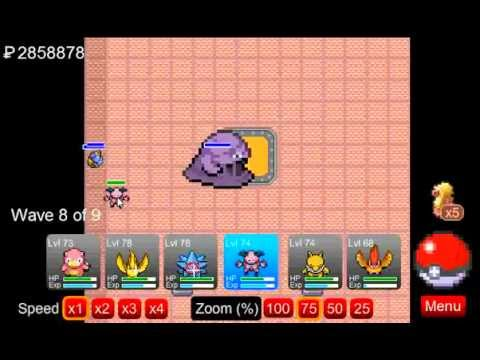 Pokemon Tower Defense -Tutorial- How To Beat Fuchsia Gym and Get Shadow Grimer