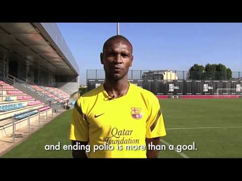 Watch video FC Barcelona: Join Éric Abidal to End Polio