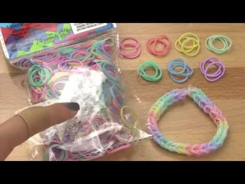NEW Mixed Pastel Rainbow Loom Bands Review / Overview (from rainbowloom.com)