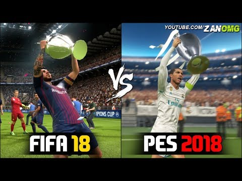 FIFA 18 Vs PES 2018 | UEFA Champions League Final Comparison