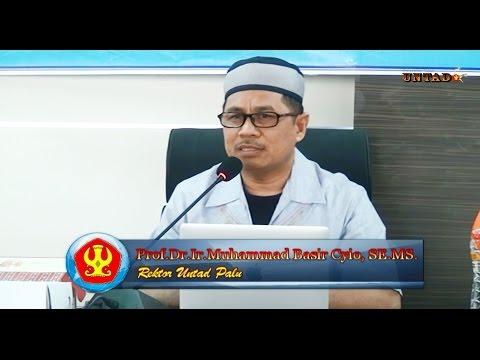 Dok Humas Untad, Rektor Prof. Dr. Ir. Muhammad Basir Cyio, SE.MS Memberikan Pencerahan Kepada Pengurus Lembaga Kemahasiswaan Untad