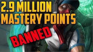 Riot Games Threatens To Perma Ban Highest Mastery Points Singed (League of Legends)