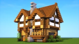 Minecraft Tutorial: How to build a Medium survival house ( Medieval Mansion ) 2019