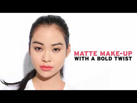 Matte Make up Look with a Bold Twist