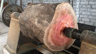 Video Amazing Techniques Extreme Fast Woodworking Creative Smart - Work Wooden Lathe Art MP3, 3GP, MP4, WEBM, AVI, FLV September 2018