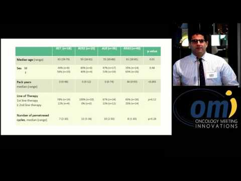 Outcomes with pemetrexed-based systemic therapy in RET-rearranged lung cancers - Joshua Sabari