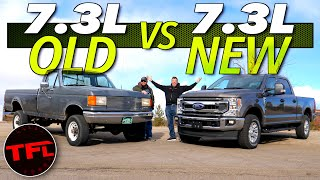 What's Your Favorite Ford 7.3L Truck? We Compare One of The Oldest 7.3L Ford Trucks to The Newest! by The Fast Lane Truck