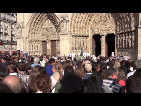 Notre Dame de Paris. Assomption 2015. Procession mariale - 2