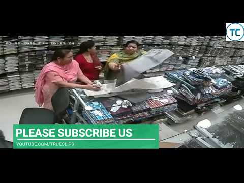 Top Women Thief Caught On CC TV Camera Stealing In Shop.