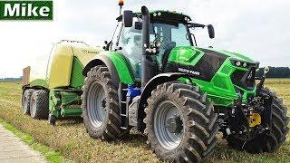 NL: Een *Nieuwe* Deutz-Fahr Agrotron 6215 TTV aan het balen persen met een Krone Bigpack 1290 XC. Dit alles werd gedaan...