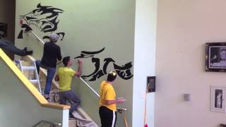 Panther Mural Time-Lapse
