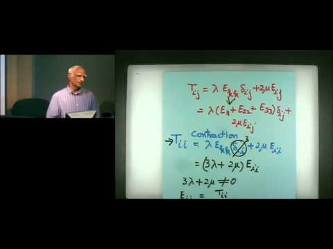 Introduction to Continuum Mechanics Lecture #3