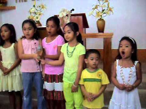 Sunday School kids singing