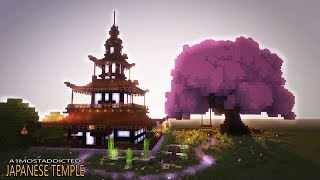 How to make a cool house in minecraft - Japanese House tutorial [TEMPLE]