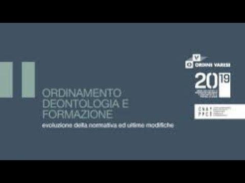 Ordinamento, Deontologia e Formazione, Villa Panza 7 novembre 2019