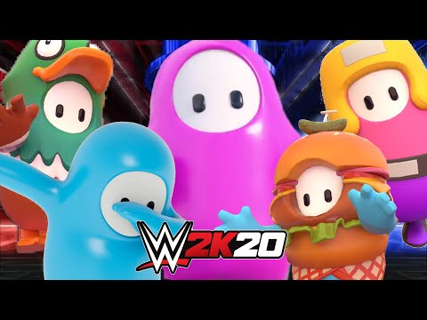 FALL GUYS HAS COME TO THE WWE IN A FATAL 4 WAY MATCH WWE 2K20