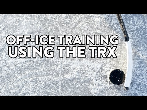 Eight off ice training exercises for hockey players using the TRX