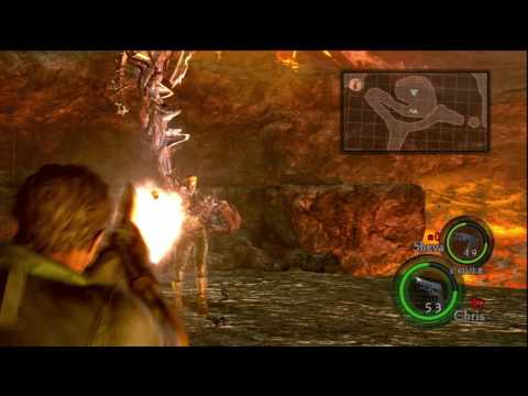 Resident Evil 5 Hd Professional Chapter 6-3 A Fight & Volcano & Final Boss Wesker [mutated Form] P40