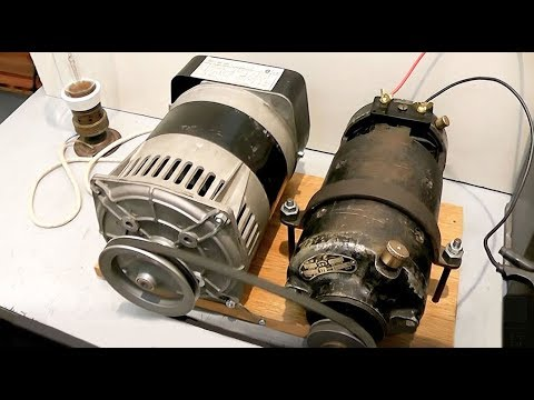 Generator - Generator 230 volts AC dragged by a dynamo of 24 volts DC. The function of this system has no value for purposes of production of electrical energy. This vid...