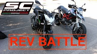 10. REV BATTLE Kawasaki Z800 vs Ducati Hypermotard 796