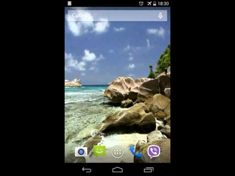 Video of Beautiful beach Video LWP