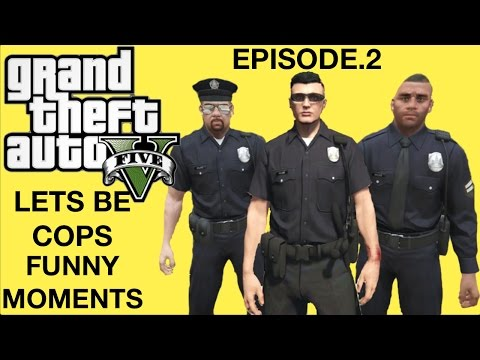 Social Experiment on GTA 5 Part 2-(Lets be Cops, Watchu want some D*ck, Funny Moments)