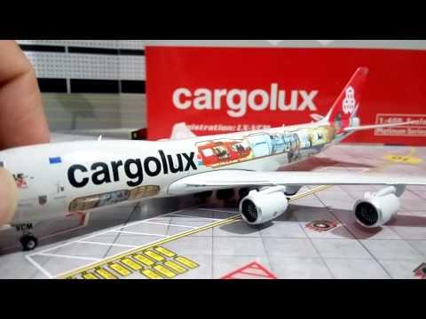 """Review cargolux """"cutaway"""" B747-8F Phoenix 1/400 (español)"""
