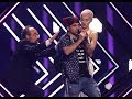 Stage invasion during the UK performance on Eurosong 2018