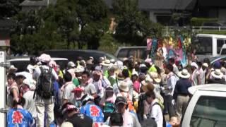 石上げ祭(7)大口町献石 社務所前〜岩場