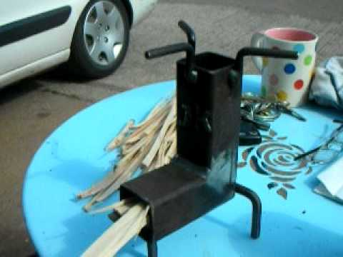 The worlds smallest rocket stove