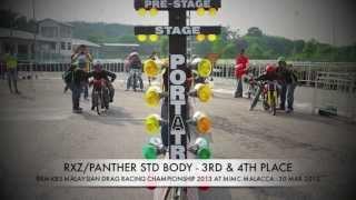 DRAG RACE 201M - RXZ STD BODY - RKM KBS MALAYSIAN DRAG RACING 2013 R2 Video
