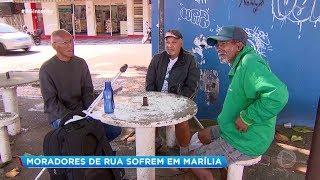 Marília: moradores de rua sofrem sem assistência
