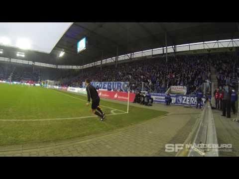 Video: Einklatschen und Torjubel beim 1:0- 1. FC Magdeburg gegen VfR Aalen