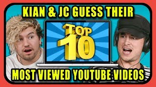 Video Can YouTube Stars Guess Their Top 10 Most Viewed YouTube Videos? | Kian & JC MP3, 3GP, MP4, WEBM, AVI, FLV Desember 2018