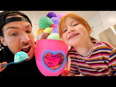 Adley is the BOSS 🍦 SWEET SHAKE SHOP!! New Store with Dad! Mom and her Pet Rainbocorns visit us!