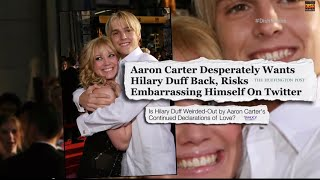 "Allegedly, Aaron Carter wants ex-girlfriend Hilary Duff back so bad, he's willing to embarrass himself on Twitter. ""Dish Nation"" is a ..."