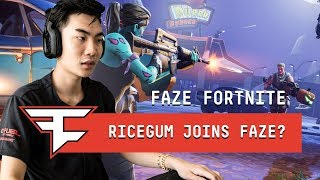 RiceGum Joins FaZe Fortnite